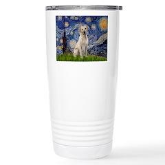 Starry Night Yellow Lab Travel Mug