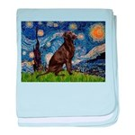 Starry Chocolate Lab baby blanket