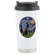 Starry Night Black Lab Travel Mug