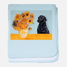 Sunflowers / Lab baby blanket