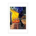 Cafe & Black Lab Mini Poster Print