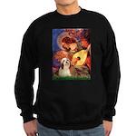 Mandolin / Lhasa Apso #4 Sweatshirt (dark)