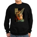 Madonna / Lhasa Apso #9 Sweatshirt (dark)