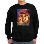 Mandolin / Lhasa Apso #9 Sweatshirt (dark)