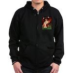Angel / Lhasa Apso #4 Zip Hoodie (dark)