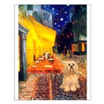 Cafe / Lhasa Apso #9 Small Poster