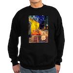 Cafe / Lhasa Apso #9 Sweatshirt (dark)