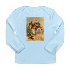 Vase / Lhasa Apso #9 Long Sleeve Infant T-Shirt