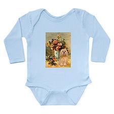 Vase / Lhasa Apso #9 Long Sleeve Infant Bodysuit