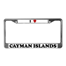 I Love Cayman Islands License Plate Frame