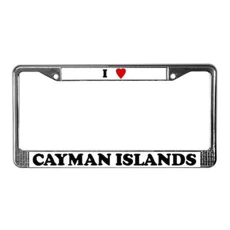 I Love Cayman Islands License Plate Frame