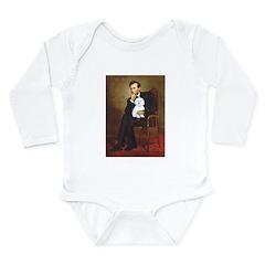 Lincoln / Maltgese (B) Long Sleeve Infant Bodysuit