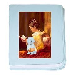 Reading / Maltese baby blanket