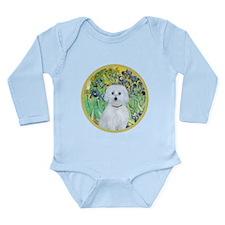 Irises / Maltaese (B) Long Sleeve Infant Bodysuit