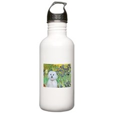 Irises / Maltaese (B) Water Bottle
