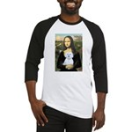 Mona Lisa / Maltese (B) Baseball Jersey