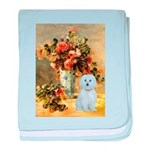 Vase / Maltese (B) baby blanket