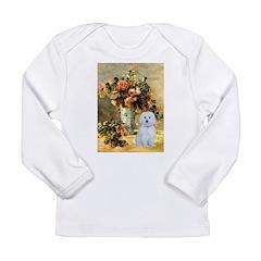 Vase / Maltese (B) Long Sleeve Infant T-Shirt
