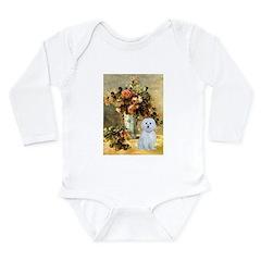 Vase / Maltese (B) Long Sleeve Infant Bodysuit