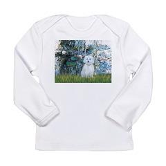 Lilies #1 - Maltese (B) Long Sleeve Infant T-Shirt