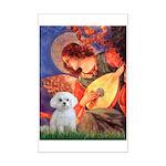 Mandolin Angel & Maltese Mini Poster Print