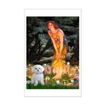 Fairies & Maltese Mini Poster Print