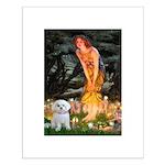 Fairies & Maltese Small Poster