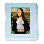Mona's Maltese (R) baby blanket