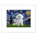 Starry Night / Maltese Small Poster