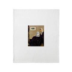 Whistler's Mother Maltese Throw Blanket