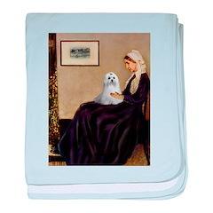Whistler's Mother Maltese baby blanket