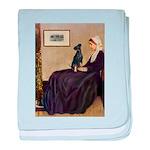 Whistler's / Min Pin baby blanket