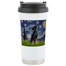 Starry / Min Pinscher Ceramic Travel Mug