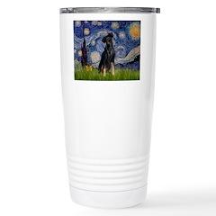 Starry / Min Pinscher Ceramic Travel Mug