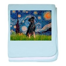 Starry / Min Pinscher baby blanket