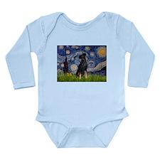 Starry / Min Pinscher Long Sleeve Infant Bodysuit