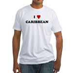 I Love Caribbean Fitted T-Shirt