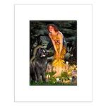 Fairies & Newfoundland Small Poster