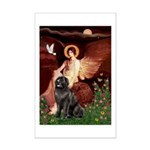 Angel & Newfoundland Mini Poster Print