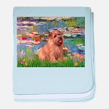 Lilies /Norfolk Terrier baby blanket