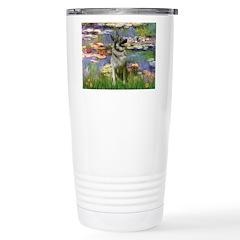 Lilies / Nor Elkhound Travel Mug