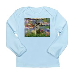 Lilies / Nor Elkhound Long Sleeve Infant T-Shirt