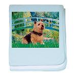 Bridge / Norwich Terrier baby blanket