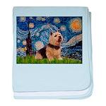 Starry /Norwich Terrier baby blanket