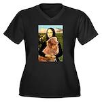 Mona's Nova Women's Plus Size V-Neck Dark T-Shirt