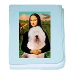 Mona's Old English Sheepdog baby blanket