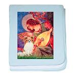 Mandolin Angel & Papillon baby blanket