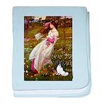Windflowers & Papillon baby blanket