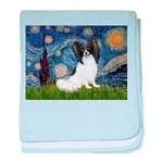 Starry Night Papillon baby blanket