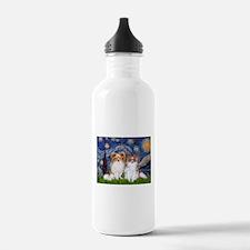 Starry Night & Papillon Water Bottle